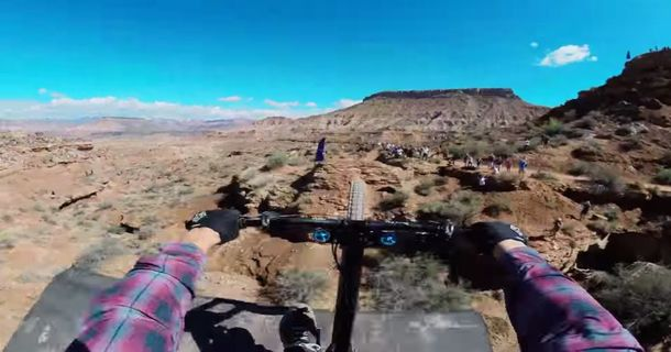 This Guy Is About To Do A Backflip On His Bike Over A Canyon